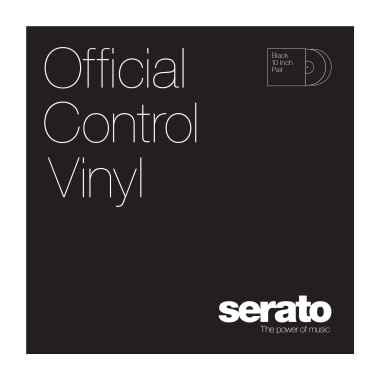 Serato 10'' Standard Colors Vinyl - (Pair, Black)