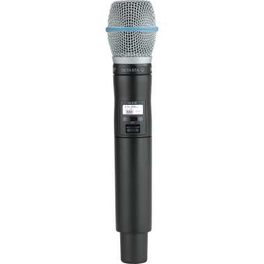 Shure ULXD2/B87A Handheld Wireless Microphone Transmitter With BETA87A