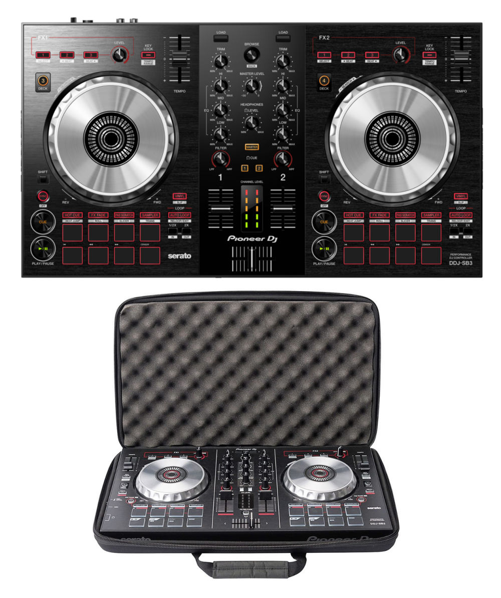 Pioneer DJ DDJ-SB3 + Magma MGA47998 Case Bundle @ The DJ Hookup