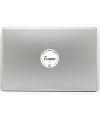 TDJH Badge Sticker on Laptop