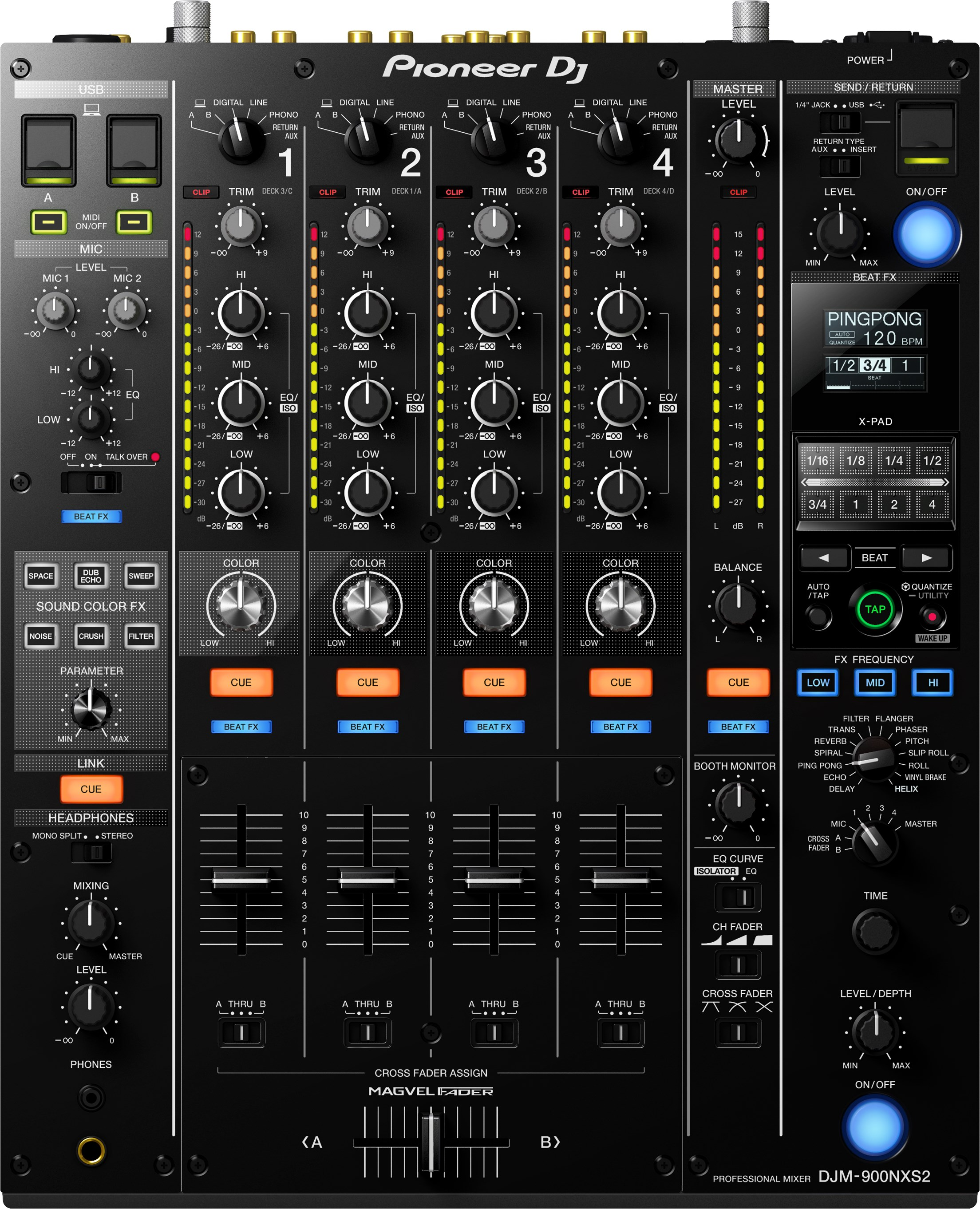 Pioneer DJ DJM-900 NXS2 - Professional DJ Mixer