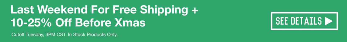 Last Weekend for Free Shipping!