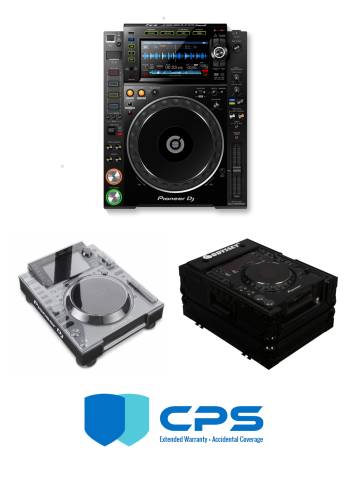"Pioneer DJ CDJ-2000 NXS2 ""PROtection"" Bundle With Odyssey FZCDJBL, Decksaver Cover And 2 Year Accidental Coverage Warranty"