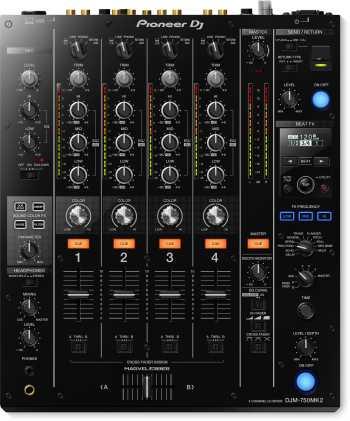 Pioneer DJM-750MK2 - Professional 4-Channel Mixer