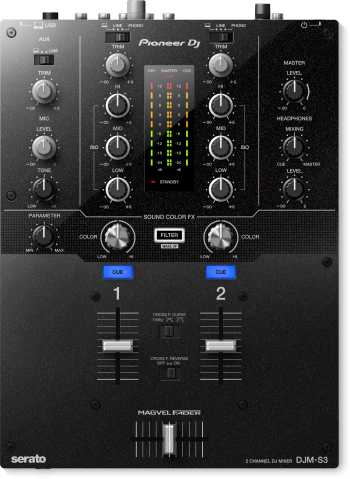 Pioneer DJM-S3 - 2-Channel Mixer For Serato DJ + Free Serato Control Vinyl, FX Pack (1st 1000 Units Sold) And DJCITY.COM Subscription (1st 2000 Units Sold)