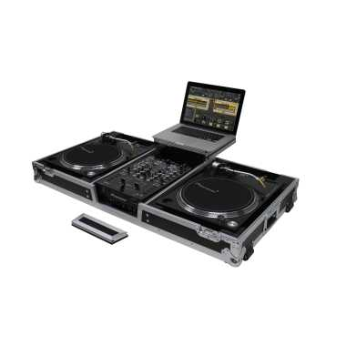 """Odyssey FZGSLBM10WR - 10"""" Mixer & 2x Turntables in Battle Position Rolling Coffin"""