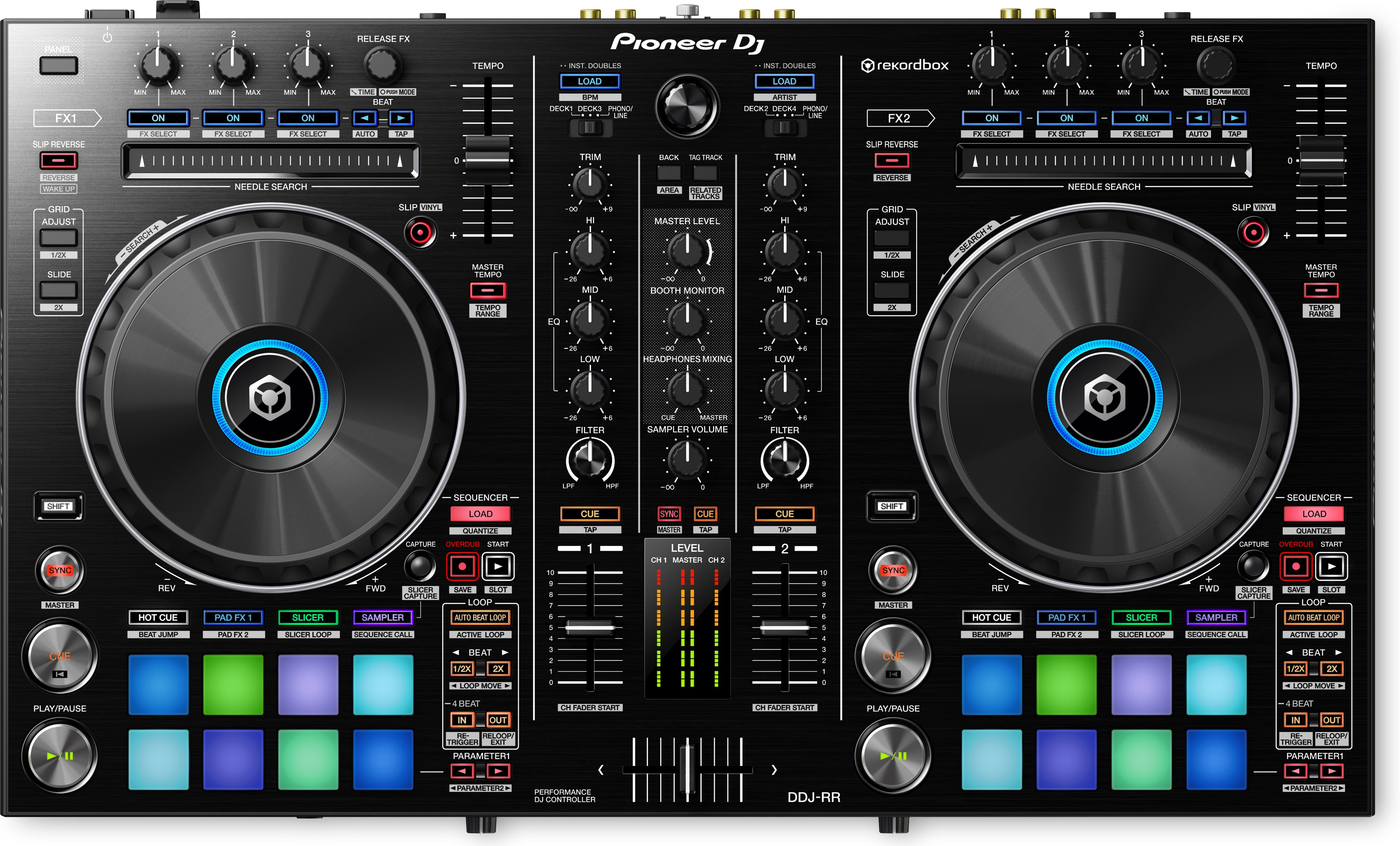 Pioneer DJ DDJ-RR - Portable 2-channel Controller for Rekordbox