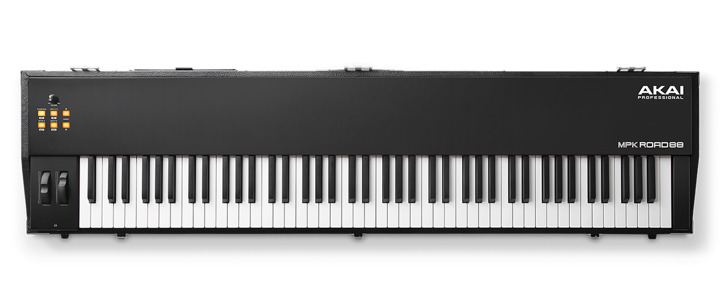Akai MPK Road 88 - Premium 88-Key USB Keyboard Controller with Integrated  Road Case